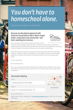You don't have to homeschool alone.