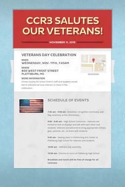CCR3 Salutes our Veterans!
