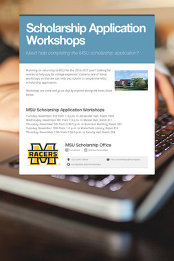 Scholarship Application Workshops