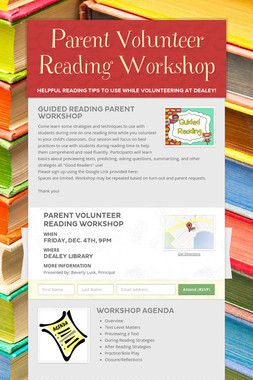 Parent Volunteer Reading Workshop
