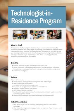 Technologist-in-Residence Program