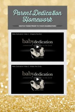 Parent Dedication Homework