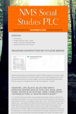 NMS Social Studies PLC
