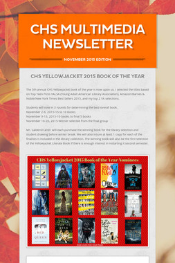CHS Multimedia Newsletter