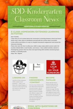 SDD-Kindergarten Classroom News