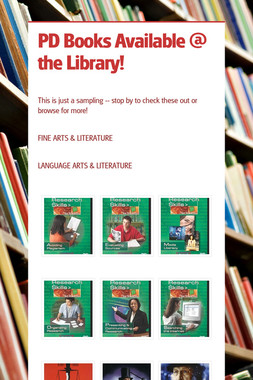 PD Books Available @ the Library!