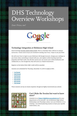 DHS Technology Overview Workshops