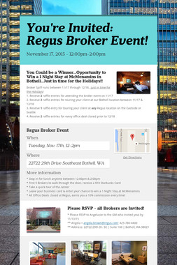 You're Invited: Regus Broker Event!