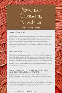November Counseling Newsletter
