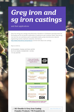 Grey iron and sg iron castings