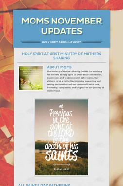 MOMS November Updates