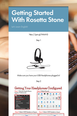 Getting Started With Rosetta Stone