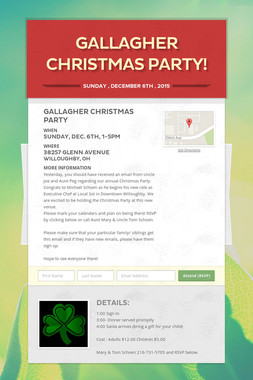 Gallagher Christmas Party!