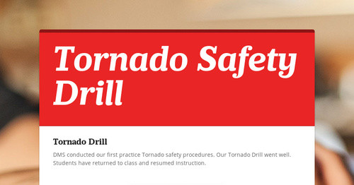 Tornado Safety Drill | Smore Newsletters