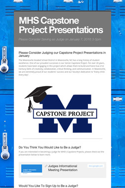 MHS Capstone Project Presentations