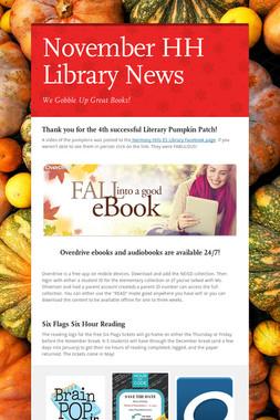 November HH Library News