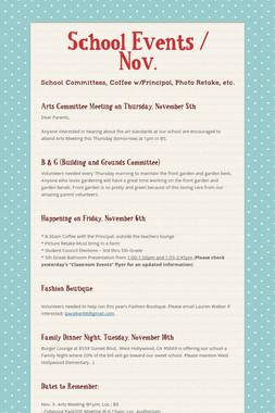 School Events / Nov.