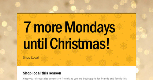 7 more mondays until christmas smore newsletters