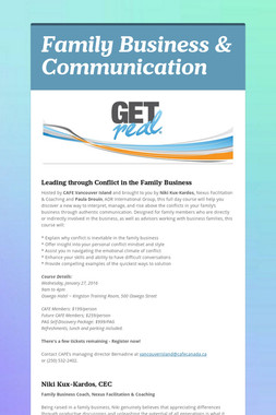 Family Business & Communication