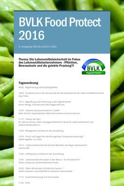 BVLK Food Protect 2016