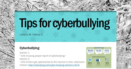 Tips for cyberbullying | Smore Newsletters
