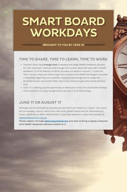 SMART Board Workdays