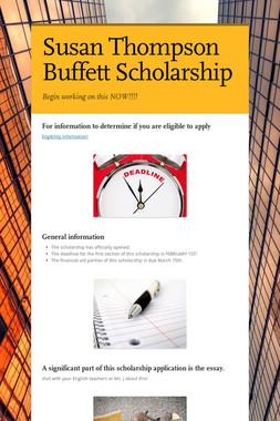 Susan Thompson Buffett Scholarship