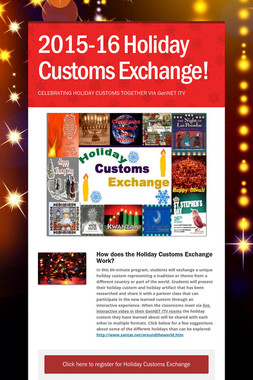 2015-16 Holiday Customs Exchange!