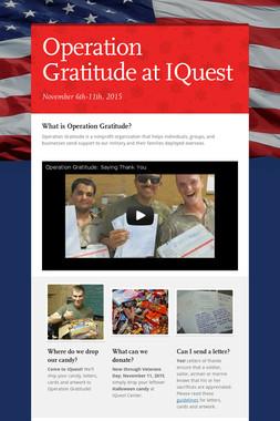 Operation Gratitude at IQuest
