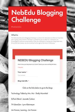 NebEdu Blogging Challenge