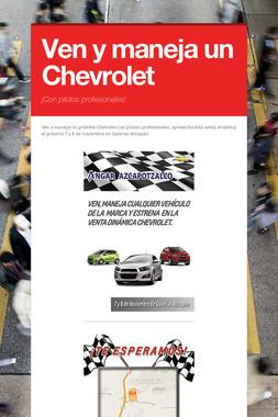 Ven y maneja un Chevrolet