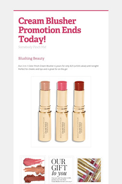 Cream Blusher Promotion Ends Today!