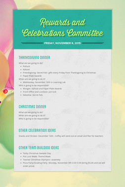 Rewards and Celebrations Committee