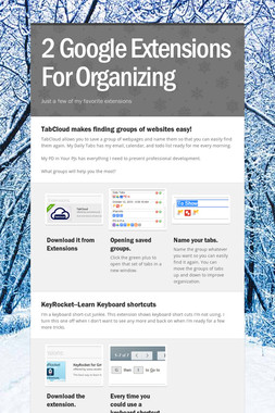2 Google Extensions For Organizing