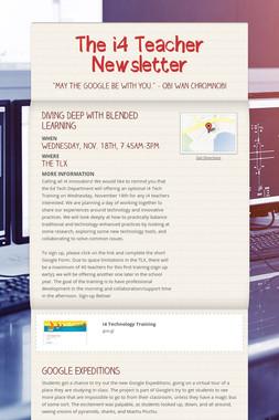The i4 Teacher Newsletter