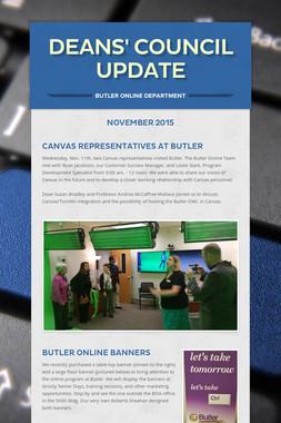 Deans' Council Update