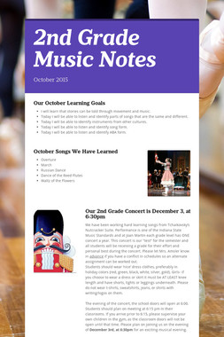 2nd Grade Music Notes