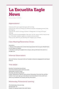 La Escuelita Eagle News