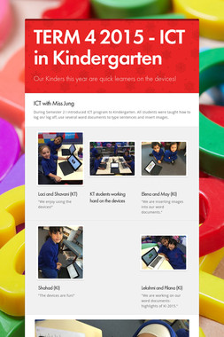 TERM 4 2015 - ICT in Kindergarten