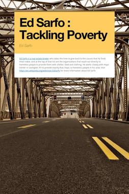 Ed Sarfo : Tackling Poverty