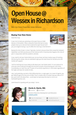 Open House @ Wessex in Richardson