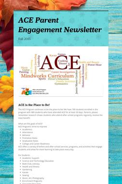 ACE Parent Engagement Newsletter