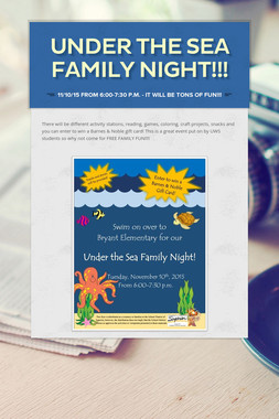 UNDER THE SEA FAMILY NIGHT!!!