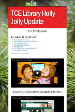 TCE Library Holly Jolly Update