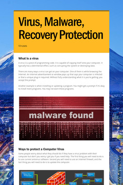 Virus, Malware, Recovery Protection