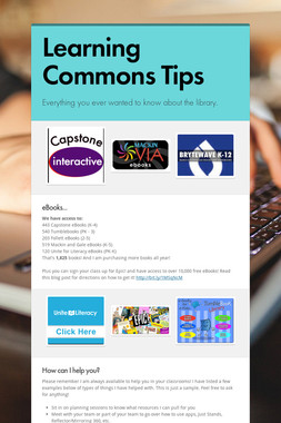 Learning Commons Tips