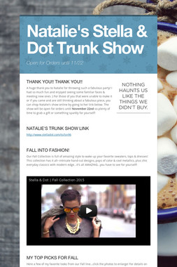 Natalie's Stella & Dot Trunk Show