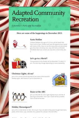 Adapted Community Recreation