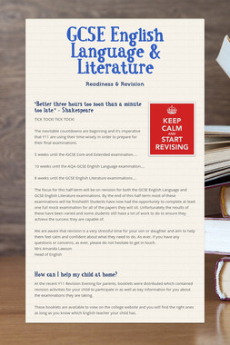 GCSE English Language & Literature