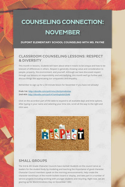 Counseling Connection: November